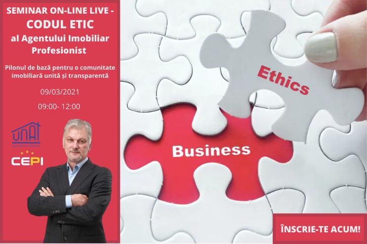 Seminar On-line LIVE 09/03 - CODUL ETIC al Agentului Imobiliar Profesionist
